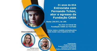31 anos do ECA: Fundação CASA entrevista egresso que se tornou artista